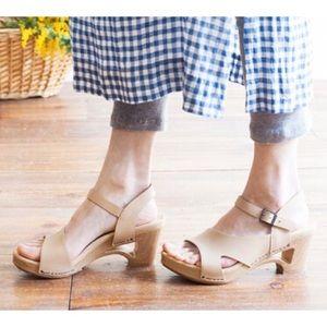 DANSKO Tasha Clog Sandals in Natural